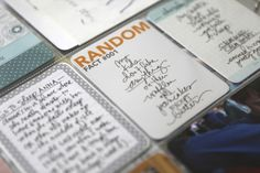 "Love the Idea of Using ""Random"" _____________ (Fill the Blank) as Space Filler in Scrapbooks, Smash Books & Journaling!"