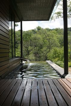 Infinity Pool off the deck in Bushland