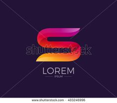 S Alphabet letter logo. Abstract Glossy Colorful logotype vector design template.