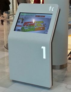 Freestanding Digital Wayfinding - product example ... follow us  @  www.pinterest.com/signbrand Kiosk Design, Signage Design, Display Design, Digital Kiosk, Digital Signage, Marketing, Environmental Graphic Design, Environmental Graphics, Directory Design