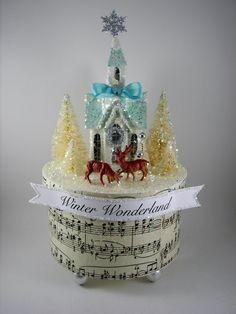 Winter Wonderland Tableau Box Decoration