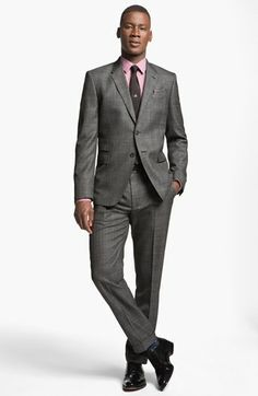 40% OFF Great price for Paul Smith London Slim Fit Plaid Wool Suit  8ecf340e2098