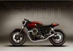 V7 Guzzi custom Cafe Racer Bikes, Cafe Racer Motorcycle, Cafe Racers, Moto Guzzi V7 Stone, Cafe Racer Magazine, Scrambler, Cool Bikes, Street Fighter, Tractors