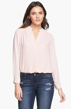 Pleione Split Neck Woven Blouse available at #Nordstrom
