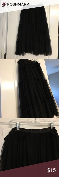 Tulle skirt Black tiered tulle skirt with elastic waistband. Never worn. ASOS Curve Skirts Midi