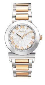 Ferragamo Women's F72SBQ9902 S095 Grande Maison Gold Ion-Plated Stainless Steel Roman Numerals Watch