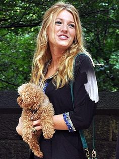 Blake Lively and her Maltipoo Penny