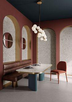 Interior Wallpaper, Wall And Floor Tiles, Decorative Tile, Fine Porcelain, My New Room, Retail Design, Terrazzo, Ikon, Home Interior Design