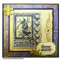 Crafty Individuals CI-205 - 'Hummingbird Collage' Art Rubber Stamp, 70mm x 90mm - Crafty Individuals from Crafty Individuals UK