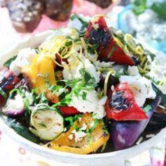 grillade grönsaker o mozarella