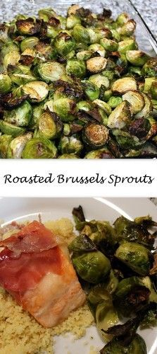 Roasted Brussels Sprouts from Books n' Cooks - Celebrating St Patty's Day with #SundaySupper and healthy green food