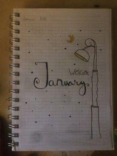January bullet journal idea