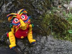 Polymer Clay, Handmade, Chinese Inspired Jointed Dragon by KatersAcres