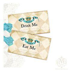 Alice in Wonderland Tea Party, Drink Me Tags