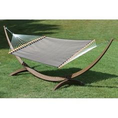 Vivere Hammocks Poolside Two Person PVC-coated polyester Camping Hammock Color: Taupe