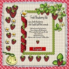 "Fresh Strawberry-Ade so easy and cute recipe ""card"" Scrapbook Page Layouts, Scrapbook Cards, Scrapbooking Ideas, Kids Cookbook, Cookbook Ideas, Scrapbook Recipe Book, Friend Recipe, Fred, Printable Recipe Cards"