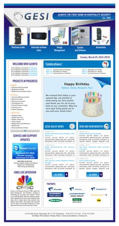 Create An Eye Catching Email Newsletter For A Technology Company