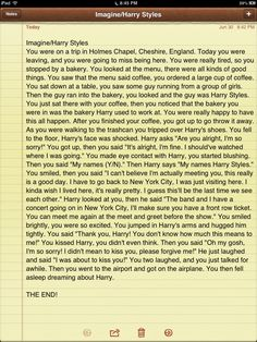 Imagine/Harry Styles Just finished writing this, hope you all like it!
