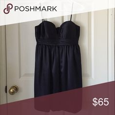 BCBGeneration black satin dress Like new! Sweetheart neckline. BCBGeneration Dresses