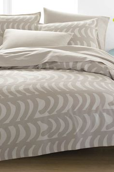 Muru US Sized Sheet Sets Beige/White