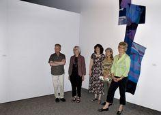 left to right, Marcel Marois,  Sondra Macleod, Barbara Heller, Line Dufour, Jane Kidd in front of Gravity tapestry by Line Dufour at the Burlington Art Centre Fibre Art, Marcel, Tapestries, Line, Centre, Hanging Tapestry, Fishing Line, Tapestry, Wallpapers