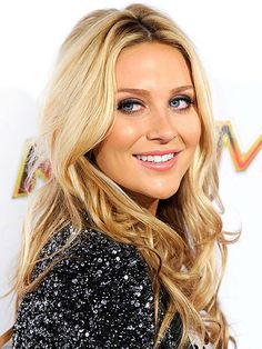 "Stephanie Pratt - Love this hair color!  Not ""cheap blonde"" looking, not super bleached, just a pretty blonde color!"