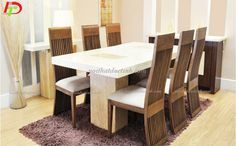 Phong cách hiện đại của bàn ăn 6 ghế