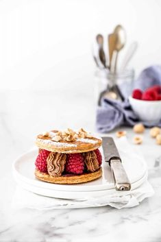 ... chocolate and raspberry mille feuille ...