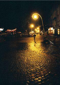 Rainy night in Zakopane, Poland.
