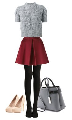 """""""Skinny secretary"""" by londonxx ❤ liked on Polyvore featuring Michael Kors, P.A.R.O.S.H., Maison Margiela and Charles by Charles David"""