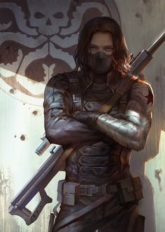 Awesome fan art of the Winter Soldier.