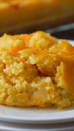 The buttery and creamy flavor blends perfectly with the cornbread, making it hard to stop at just one helping. This super easy Corn Pudding Casserole Recipe has quickly become one of our favorite holiday side dish recipes! Easy Corn Pudding, Corn Pudding Casserole, Cornbread Pudding, Corn Pudding Recipes, Cornbread Casserole, Corn Recipes, Side Dish Recipes, Mexican Food Recipes, Dessert Recipes