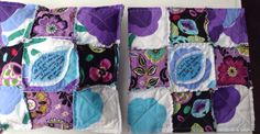 Quilted Rag Pillows created by The Fabric Nest