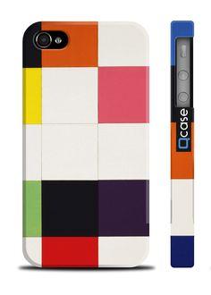 Чехол  Big squares для iPhone 4 | 4S (пластиковый чехол, защитная пленка, заставка) купить в интернет-магазине BeautyApple.ru.