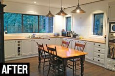 Salvaged from a friend's house nine years ago, Handyman readers Amy and Hilmar Hoefer's kitchen cost only the labour to remove it. Kitchen Cost, Kitchen Reno, Handyman Magazine, Timber Door, Amy, Table, House, Furniture, Tips