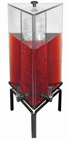 W X 12 D X H Triangle Beverage Dispenser Gallon Black