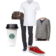 Another casual style for him.