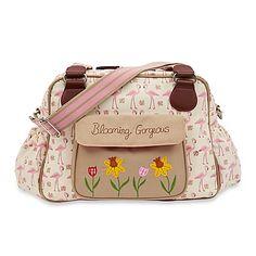 Pink Lining Blooming Gorgeous Flamingo Walk Diaper Bag in Cream/Pink