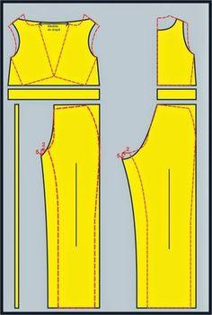 Sewing Pattern / Jumpsuit Coat Patterns, Dress Sewing Patterns, Blouse Patterns, Clothing Patterns, Sewing Pants, Sewing Clothes, Diy Clothes, Fashion Sewing, Diy Fashion