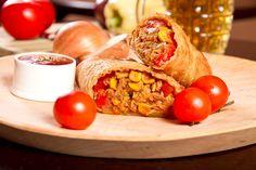 Przepis na tortillę z kukurydzą i mięsem wieprzowym
