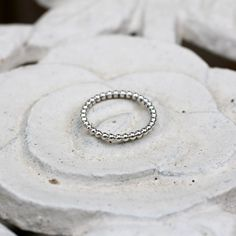 Beaded Stacking Ring   Lucy Flint Design   Lucy Flint Design   Beautifully Handmade Silver Jewellery