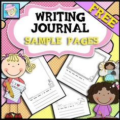 "This FREE sample is from the larger set ""Kindergarten and First Grade… Free Teaching Resources, Writing Resources, Teaching Writing, Writing Ideas, Teaching Ideas, First Grade Writing, First Grade Math, Grade 1, Kindergarten Freebies"