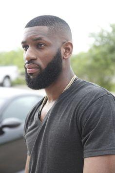 Bald Fade and Beard Allen Onyia Black Men Haircuts, Black Men Hairstyles, Boy Haircuts, Hairstyle Men, Funky Hairstyles, Formal Hairstyles, Bald Fade, Beard Styles For Men, Hair And Beard Styles