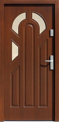 Drewniane wejściowe drzwi zewnętrzne do domu z katalogu modeli klasycznych wzór 537s3f