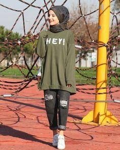 Modern Hijab Fashion, Street Hijab Fashion, Hijab Fashion Inspiration, Muslim Fashion, Modest Fashion, Fashion Outfits, Casual Hijab Outfit, Hijab Chic, Hijab Dress