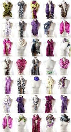 Façons chic et créatives de porter un foulard | À La Une: Trucs et Astuces
