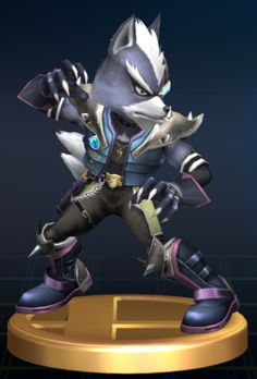 Wolf - Wolf O'Donnell - Star Fox - Super Smash Bros - Super Smash Brothers - trophy