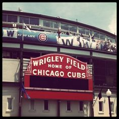 go cubs i love them there the best team on the whole earth and the whole universe hope they win another World Series soon because the last time they won was way back in nineteen 0 eight the one hundered and four years ago Sports Stadium, Sports Teams, Cubs Games, Mlb Stadiums, Chicago Illinois, Chicago Cubs, Fantasy Baseball, Cubs Win, Go Cubs Go