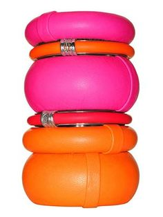 Bright Orange & Pink Bangles ✨ Fashion Jewelry & Accessories ✨ Arm Candy ✨