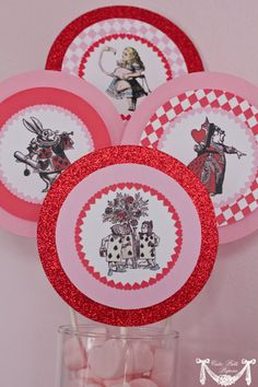 Queen of Hearts Party Alice in Wonderland by CutiePuttiPaperie, $5.50